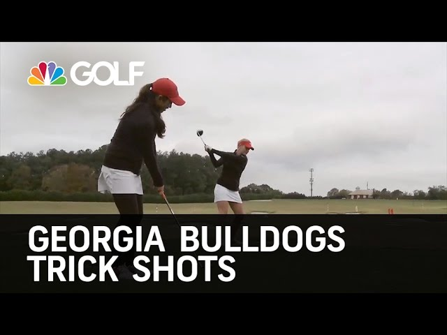 Georgia Bulldogs Golf Trick Shots | Golf Channel