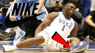 Zion Williamson WILL SIGN WITH NIKE! Zion Williamson Knee Injury vs North Carolina REACTION!