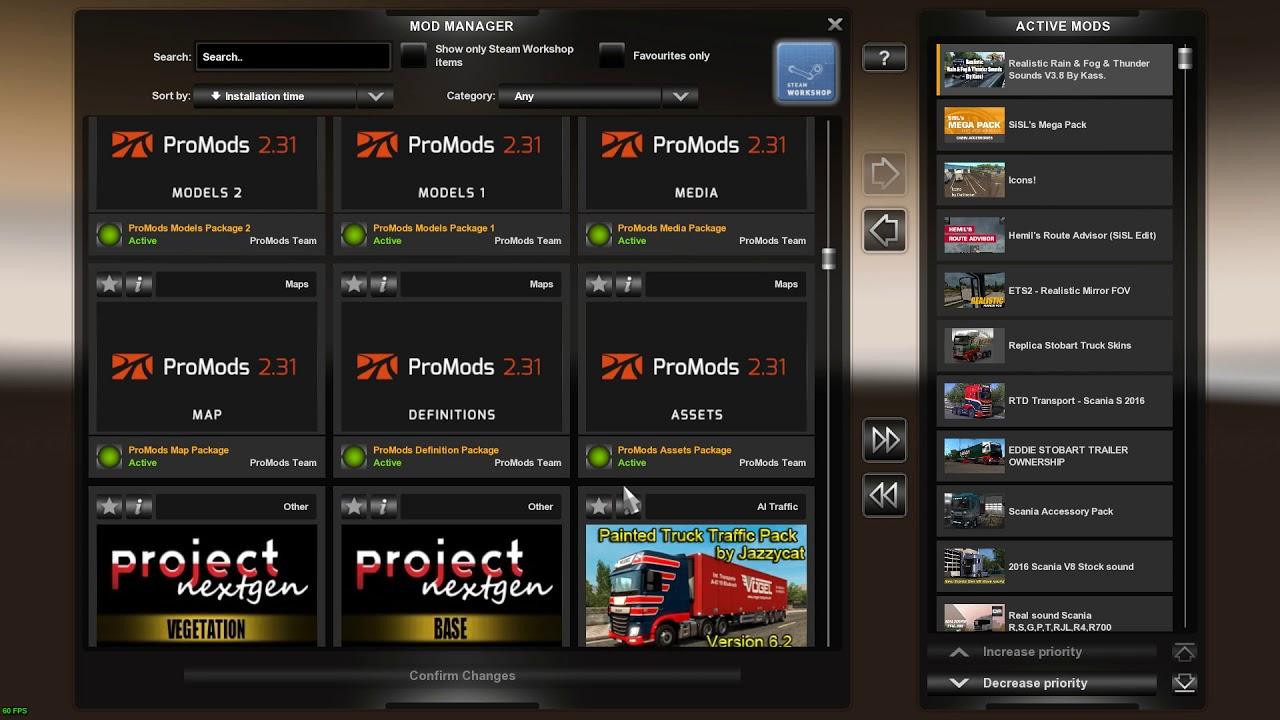Promods 2 31 Load Order [ETS2] [Euro Truck Simulator 2]