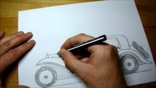 How to Draw Bugatti Royale