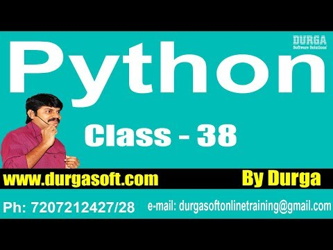 Learn Python Programming Tutorial Online Training by Durga Sir On 20-03-2018