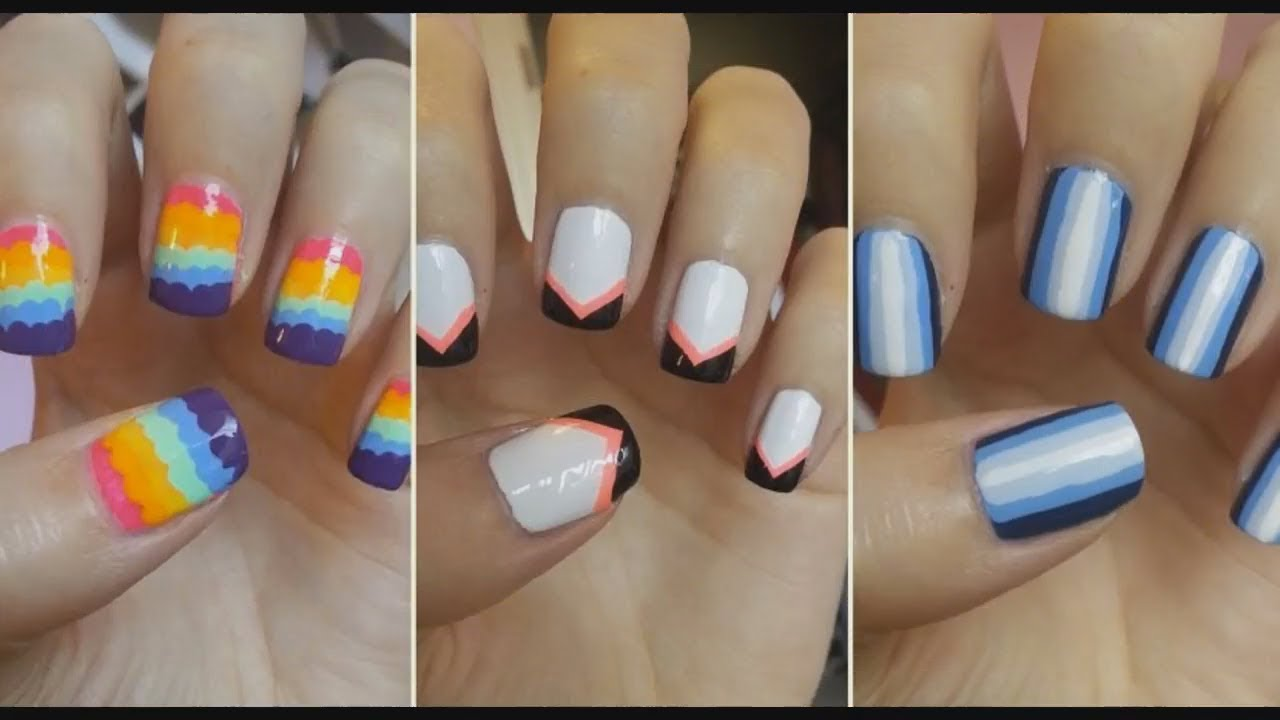 Uñas Decoradas Bonitas Tendencias En Uñas 20172018 Youtube