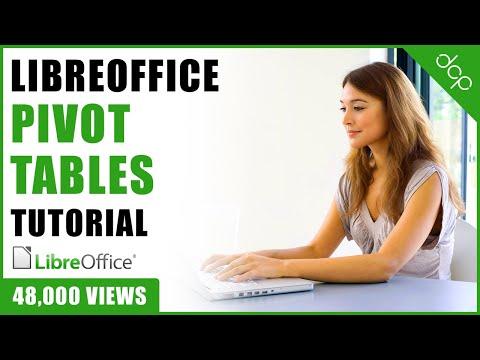 Libre Office pivot table tutorial