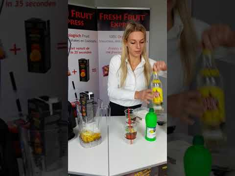 Fresh Fruit Express Bereiding Cocktail Waring Blender Nederlands