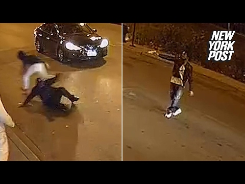Chicago police gun down an armed man after fight spills into the street