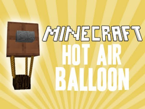 how to fly a hot air balloon in minecraft pe