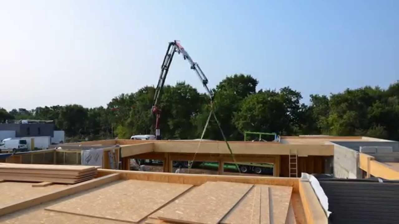 montage d 39 une maison ossature bois par l 39 entreprise lccb