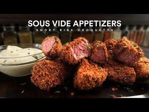 Sous Vide SHORT RIBS CROQUETTE Appetizers!