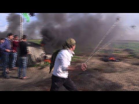 إشتباكات بين الفلسطينيين والقوات الإسرائيلية على حدود قطاع غزة
