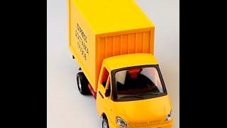 Обзор - распаковка игрушек Газель доставка грузов Арт: 9077-Е(Игрушки предоставлены Гипермаркетом игрушек и товаров для детей
