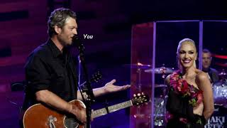 Nobody But You - Blake Shelton Duet with Gwen Stefani(Lyrics)