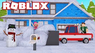 TRAPPED BY THE NIEVE!! | Roblox in Spanish
