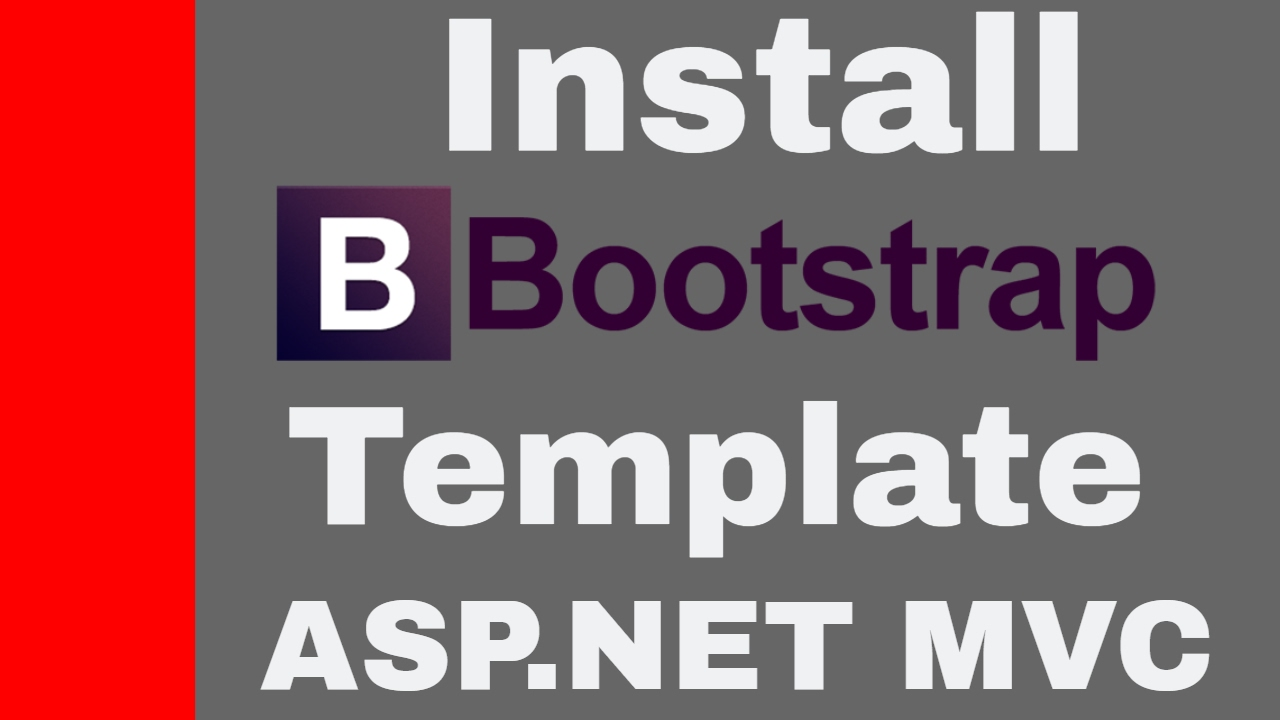 Install ASP.NET MVC Bootstrap Templates - YouTube