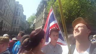HD SCENES FROM WHITEHALL, DAY FOR FREEDOM