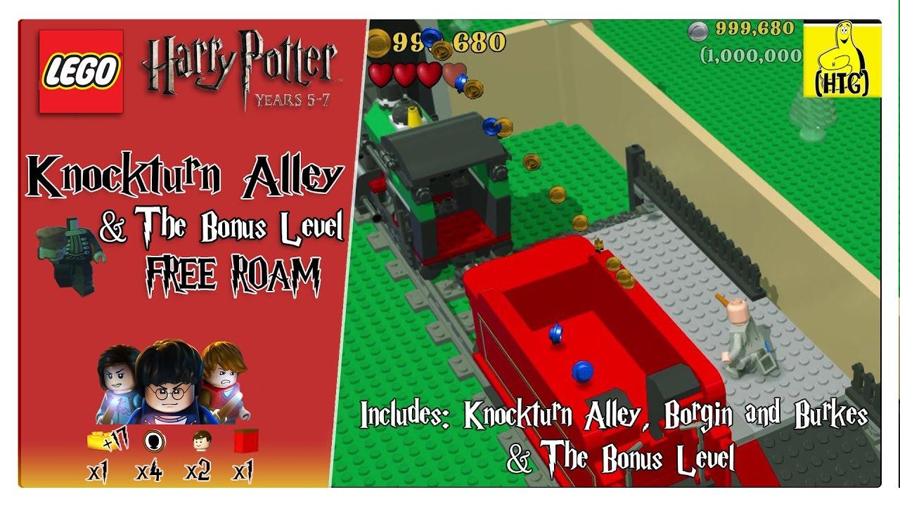Lego Harry Potter 5 7 Knockturn Alley Bonus Level Free Roam All Collectibles Htg Youtube