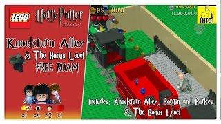 Lego Harry Potter 5-7: Knockturn Alley (+Bonus Level) FREE ROAM (All Collectibles) - HTG