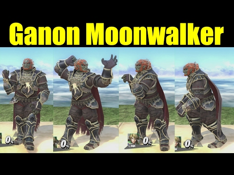 Ganon Does Michael Jackson's Moonwalker Dance in Super Smash Bros Wii U (Smash 4 Mods)