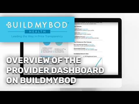 Overview of the Provider Dashboard on BuildMyBod Health!