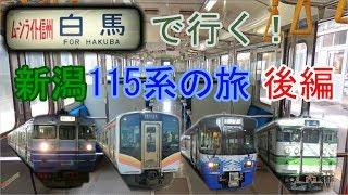 【青春18きっぷ鉄道旅】ムーンライト信州と新潟の115系に乗ろう!後編