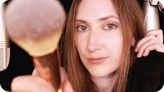 ASMR to Make You Sleepy ❤️ Face Brushing, Massage, Negative Energy Sweep, Whispers, Hair Brushing +