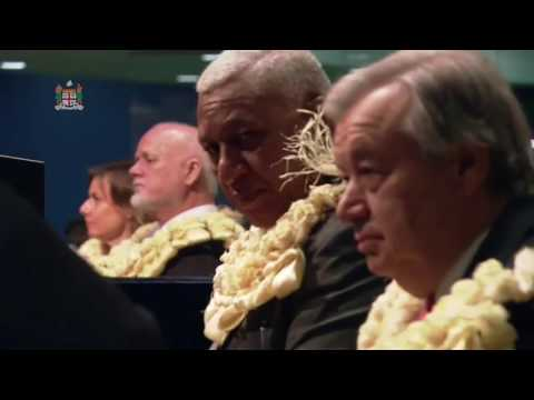 Fijian Traditional Welcome Ceremony at the Opening of the UN Oceans Conference, New York