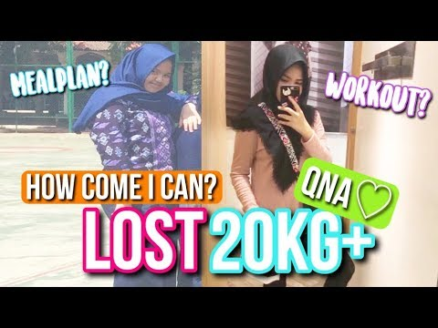 DIET QNA♡I LOST 20KG+? WHAT I EAT IN A DAY? - Indonesia
