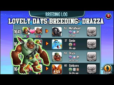 Monster Legends - How to breed Drazza and Metalhead (Lovely days breeding)