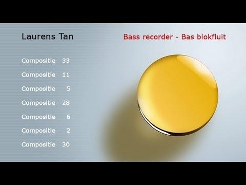 Laurens Tan Bass Recorder