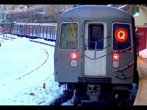 ⁴ᴷ R68A Orange and Yellow Q Train Action