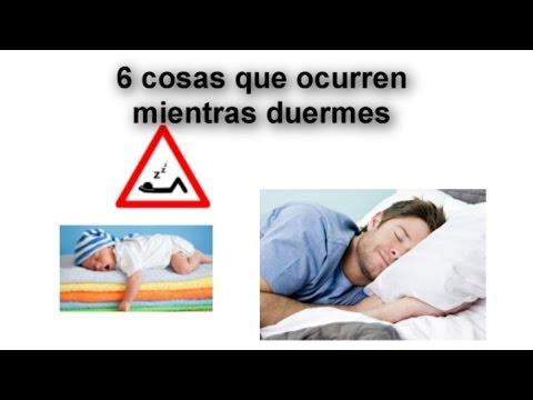 6 Cosas que ocurren mientras duermes