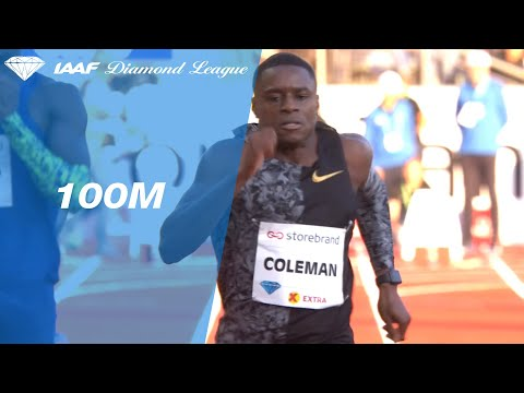 Christian Coleman Blazes To The Fastest 100 Meter Time This Year In Oslo - IAAF Diamond League 2019