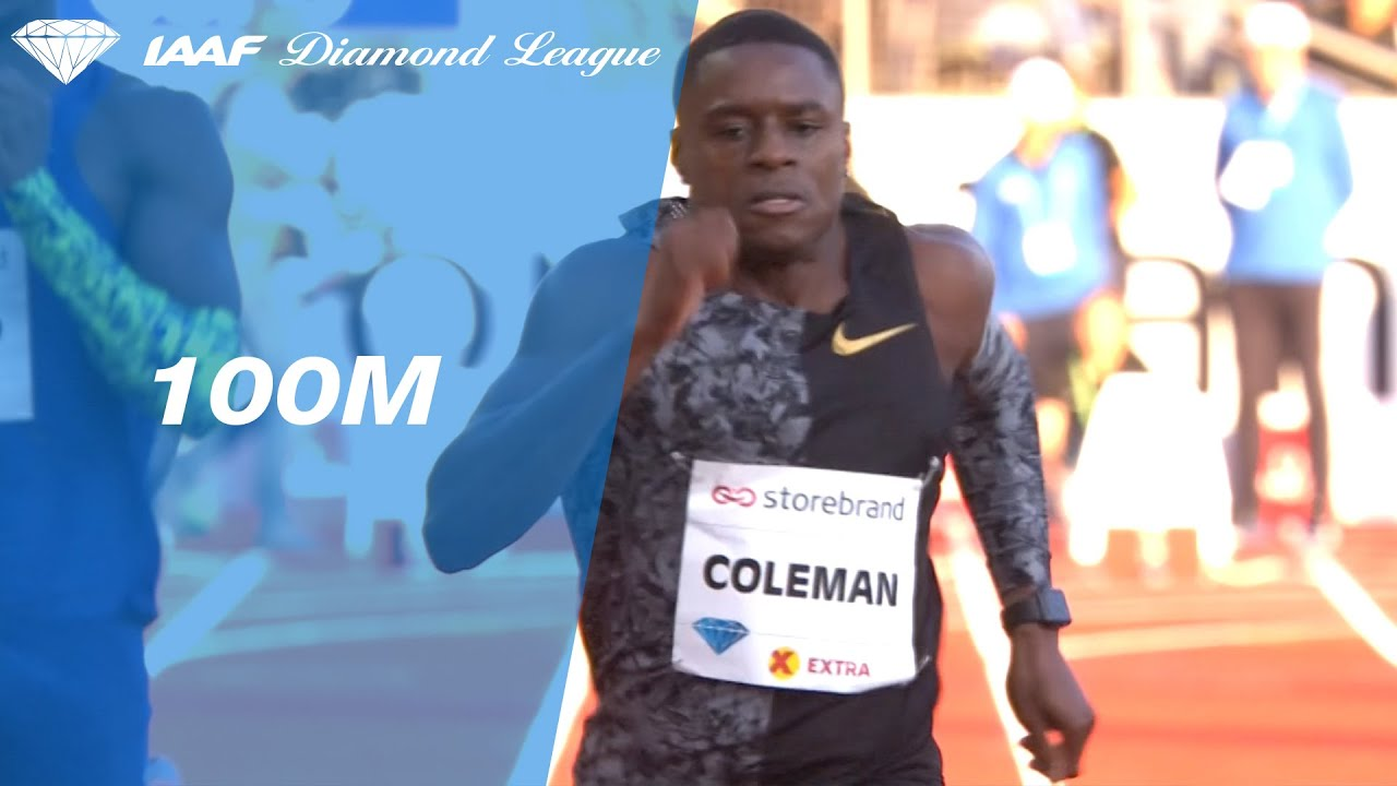 Christian Coleman blazes to the fastest 100 meter time this year in Oslo --  IAAF Diamond League 2019