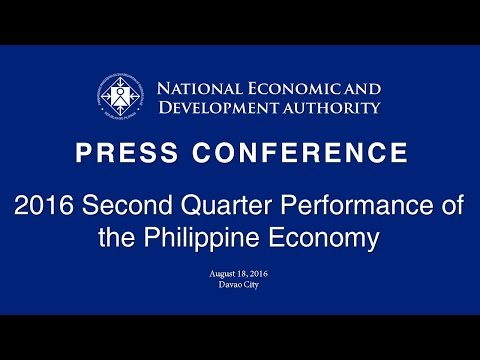 Press Conference on the 2016 Second Quarter Performance of the Philippine Economy