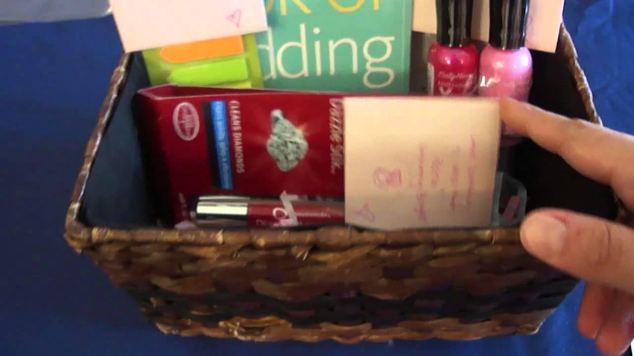 Engagement Gift Basket - YouTube