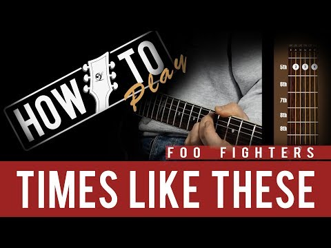 """How To Play - Foo Fighters """"Times Like These"""" - Lindo DDP90BK Electric Guitar - 동영상"""