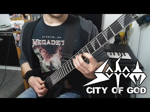 sodom - city of god | full guitar cover (tabs - all guitars - multi-angle)