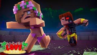SCUBA STEVE TURNS INTO A KILLER ROBOT?   Minecraft Love Island   Little Kelly