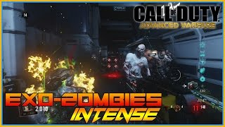 Call Of Duty - Exo Zombies, Intense Zombie Action ,Exo Suit Tactics, ROUND 15 Insanity Part 5