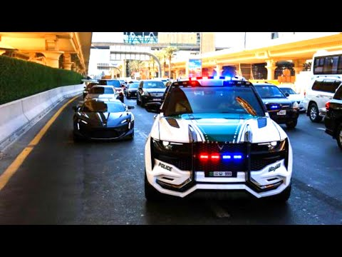 Dubai Police Car Collection 2019 Tesla Cyber Truck Youtube