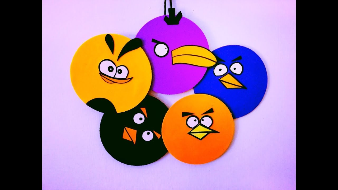 Diy Angry Birds Room Decor Super Easy Recycle Your