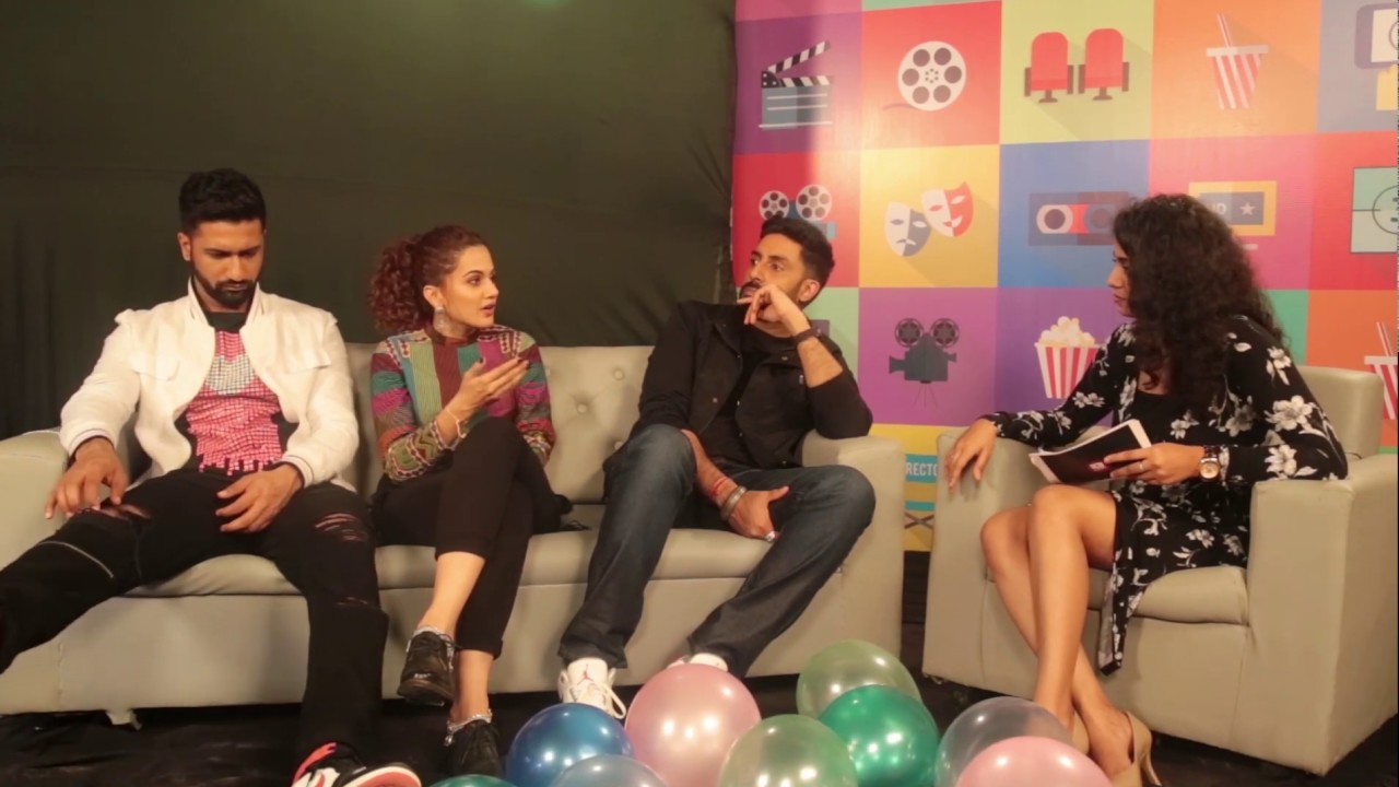 Download MissCinema   Interview with Abhishek Bachchan, Taapsee and Vicky Kaushal   Manmarziyaan