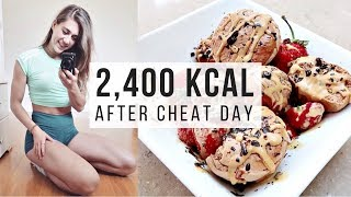 WHAT I EAT IN A DAY AFTER CHEAT DAY || ~ 2,400 CALORIES