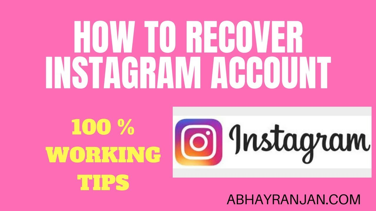 HOW TO RECOVER YOUR INSTAGRAM ACCOUNT 2019 | HOW TO GET BACK DISABLED  DELETED INSTAGRAM ACCOUNT