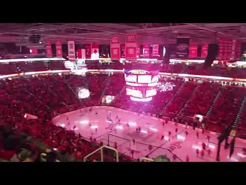 Carolina Hurricanes 2017-2018 Home Opener Intro + Player Introductions