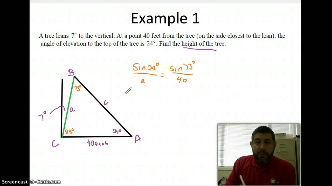 Oblique Word Problems YouTube – Right Triangle Trig Word Problems Worksheet