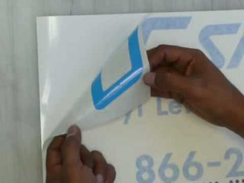 How to apply vinyl lettering and graphics