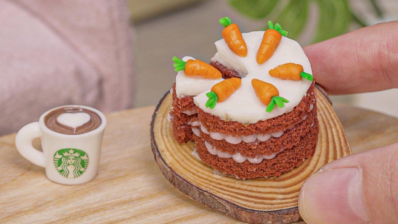 Miniature Carrot Cake #4 | So Tasty Miniature Cake Decorating | Tiny Cakes