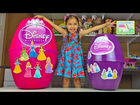Mega Huge Disney Princess Surprise Eggs | World's Biggest Toy Opening MagiClip & PlayDoh Kids Video