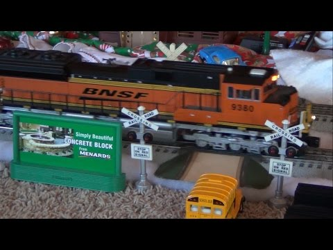 Modelling Railway Toy Train Track Plans -My O scale trains running on Christmas 2014