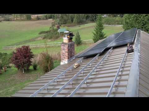 Solar Panel Installation Time lapse